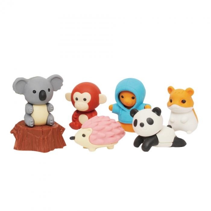 Iwako-Puzzle-Eraser-Set-Forest-Animals