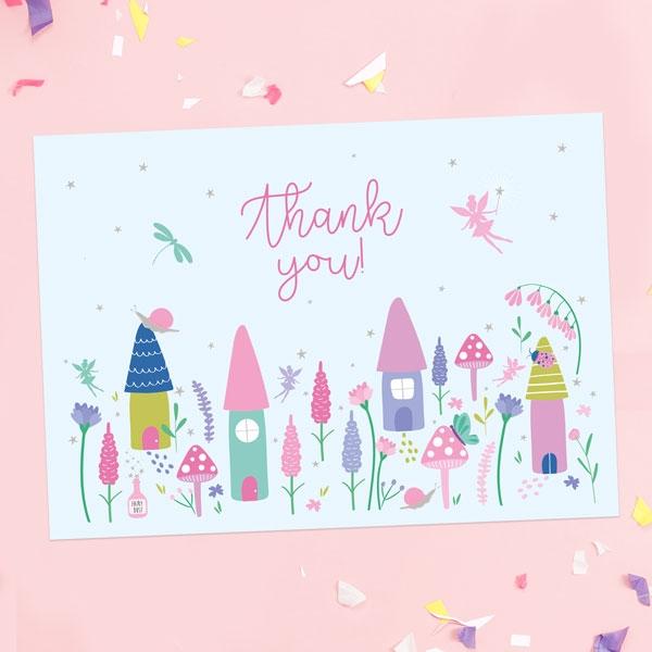 Ready-to-Write-Kids-Thank-You-Cards-Fairy-Garden