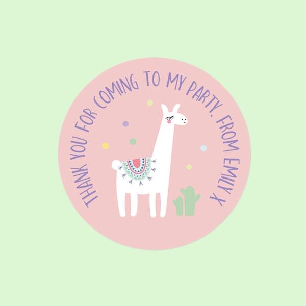 Ooh La Llama - Sweet Bag Stickers - Pack of 35