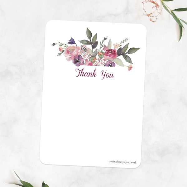 Anniversary Thank You Cards - Painted Flowers