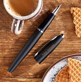 personalised-cross-rollerball-pen-black