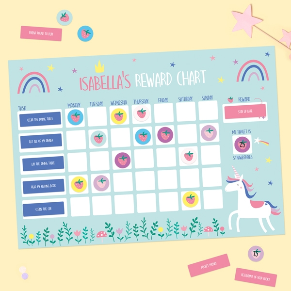 Unicorn-Magic-Personalised-Reward-Chart-&-Stickers