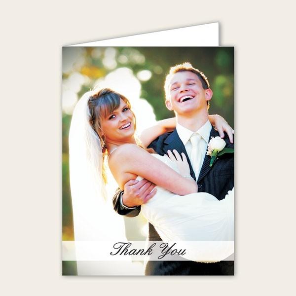 Wedding Thank You - Add Your Own Photo - A6 Portrait
