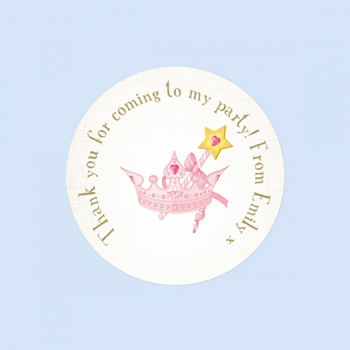 Princess Tiara - Sweet Bag Stickers - Pack of 35