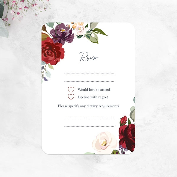 Boho-Jewel-Flowers-Wedding-RSVP-Cards