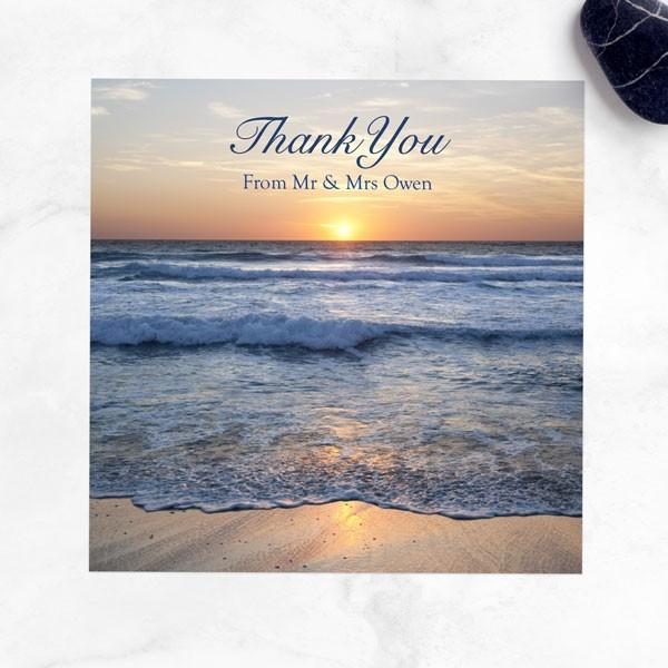 Sea Sunset - Wedding Thank You Cards