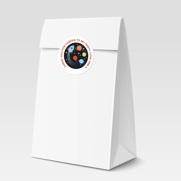 Outer Space Sweet Bag & Sticker