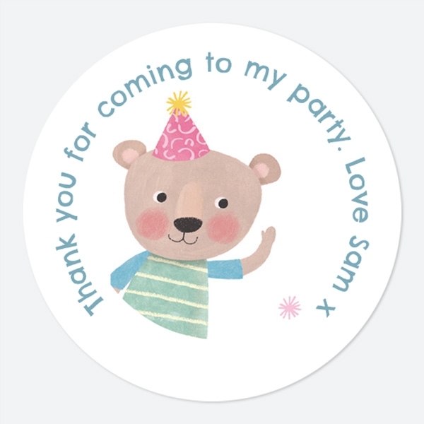dotty-party-bear-sweet-cone-stickers