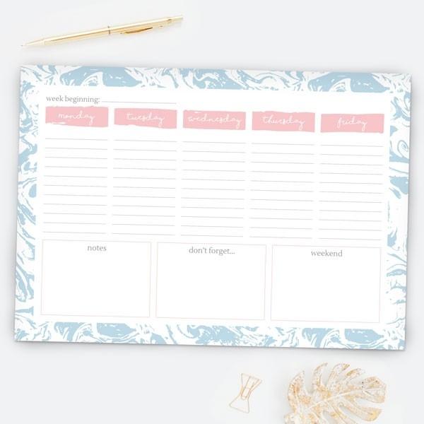 Sweet Sherbet Dreams - Desk Planner