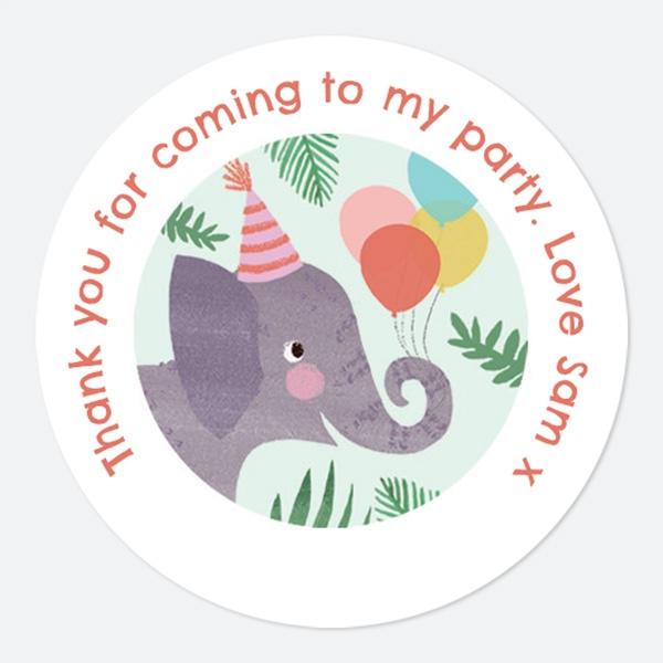 Jungle Animals Sweet Bag Stickers
