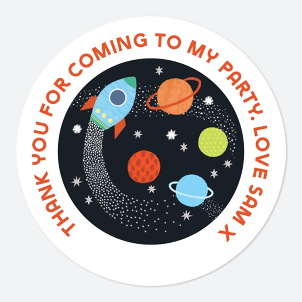 Outer Space Sweet Bag Stickers
