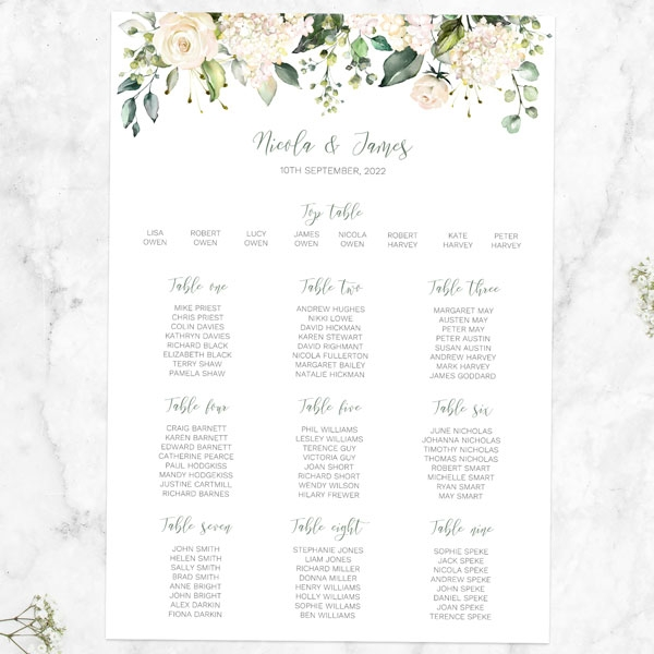 white-flower-garland-table-plan