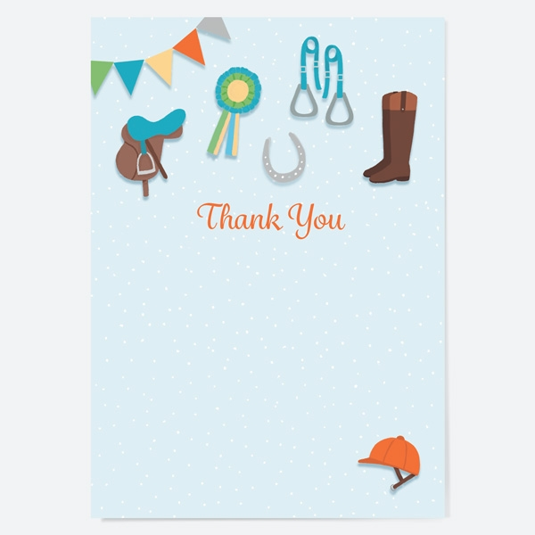 Ready to Write Kids Thank You Cards Horse Riding Equestrian