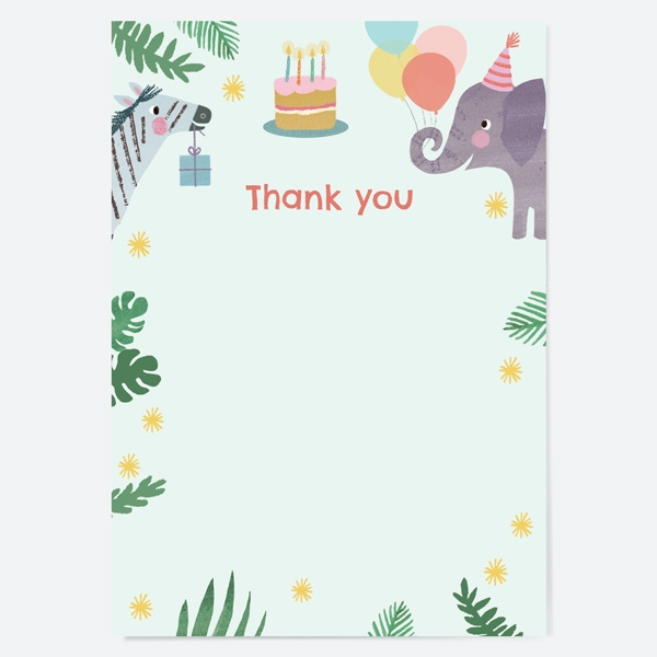 Ready to Write Kids Thank You Cards Jungle Animals