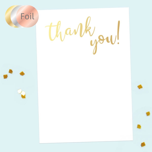 Ready to Write Thank You Cards - Typography Gold Foil - Pack of 10