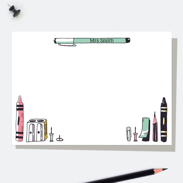 vertical-pens-pink-personalised-a6-note-card
