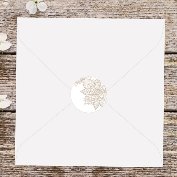 Victorian Lace - Wedding Envelope Seals
