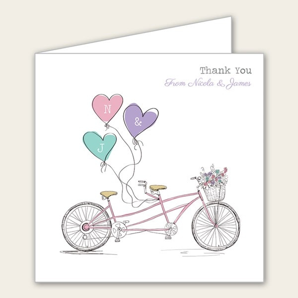 Tandem Love - Wedding Thank You Cards