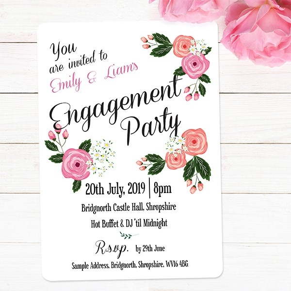 Engagement Party Invitations - Country Peony