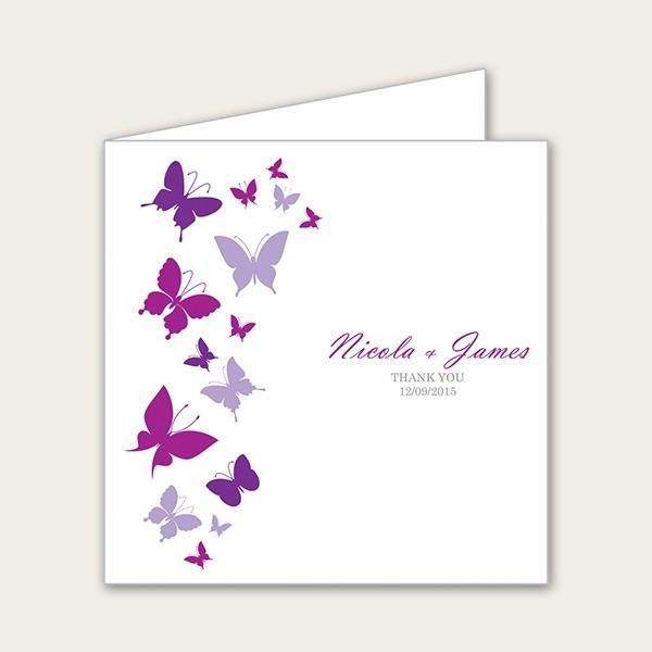 Summer Butterflies - Wedding Thank You Cards