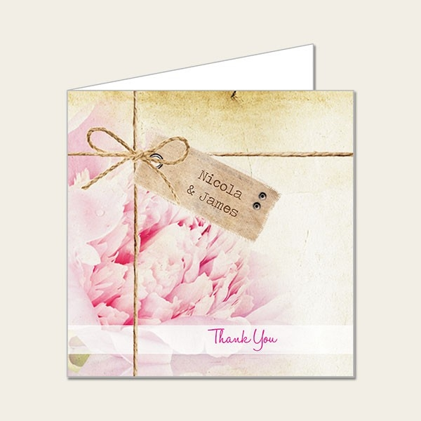 Vintage Peony - Wedding Thank You Cards