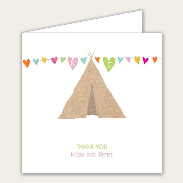 Festival Tipi - Wedding Thank You Cards