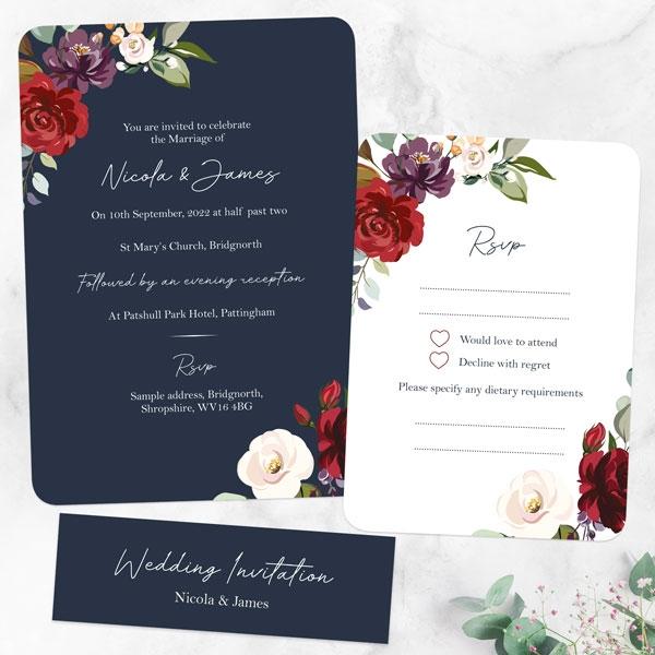 Boho-Jewel-Flowers-Boutique-Wedding-Invitation-&-RSVP