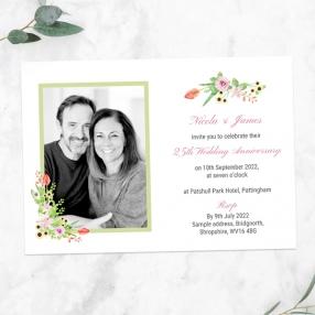 25th-Wedding-Anniversary-Invitations-Summer-Flowers