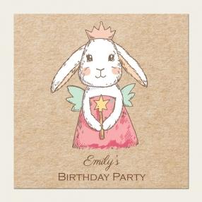 Personalised Kids Birthday Invitations - Bunny Fairy - Pack of 10