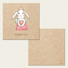Ready to Write Kids Thank You Cards - Bunny Fairy