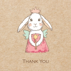 Ready to Write Thank You Cards - Bunny Fairy - Pack of 10