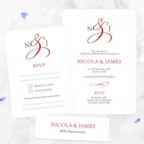 40th-Wedding-Anniversary-Invitations-Classic-Monogram