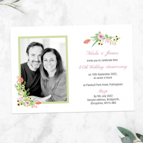 40th-Wedding-Anniversary-Invitations-Summer-Flowers