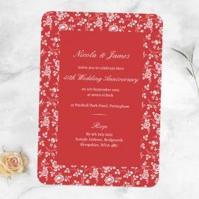 40th-Wedding-Anniversary-Invitations-Delicate-Rose-Pattern