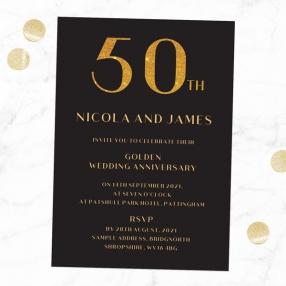 50th-Wedding-Anniversary-Invitations-Glitter-Effect-Typography