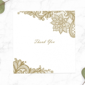 50th Anniversary Thank You Cards - Victorian Lace