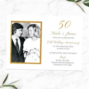 50th-Wedding-Anniversary-Invitations-Simple-Glitter-Effect