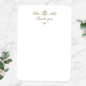 50th Anniversary Thank You Cards - Ornate Scroll Photo