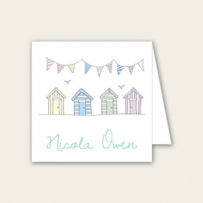 Bunting & Beach Huts - Wedding Place Cards