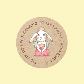 Bunny Fairy - Sweet Cone Stickers - Pack of 35