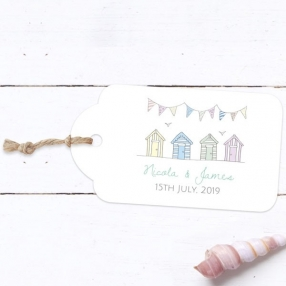 Bunting & Beach Huts - Favour Tags