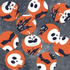 Creepy Pumpkin Castle - Halloween Table Confetti