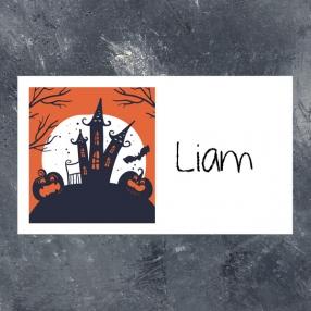 Creepy Pumpkin Castle - Halloween Party Sticker - Pack of 10