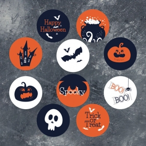 Creepy Pumpkin Castle - Halloween Stickers - Pack of 70