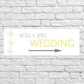 Delicate Daisies - Arrow Wedding Signs