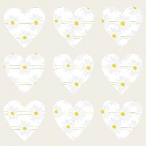 Delicate Daisies - Heart Table Confetti