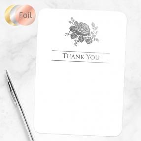 Foil Anniversary Thank You Cards - Elegant Rose