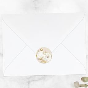 Vintage-Cream-Roses-Wedding-Envelope-Seals