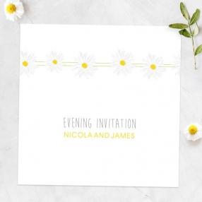 Delicate Daisies - Evening Invitations