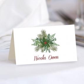 Festive Winter Foliage - Wedding Place Cards
